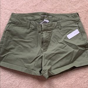 Old Navy Pixie Shorts - Army Green -Size 10